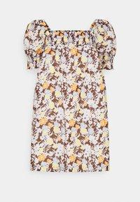 Tory Burch - SMOCKED MINI DRESS - Day dress - lucky meadow - 4