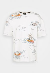 Scotch & Soda - ALLOVER TEE - T-shirt con stampa - off-white - 5