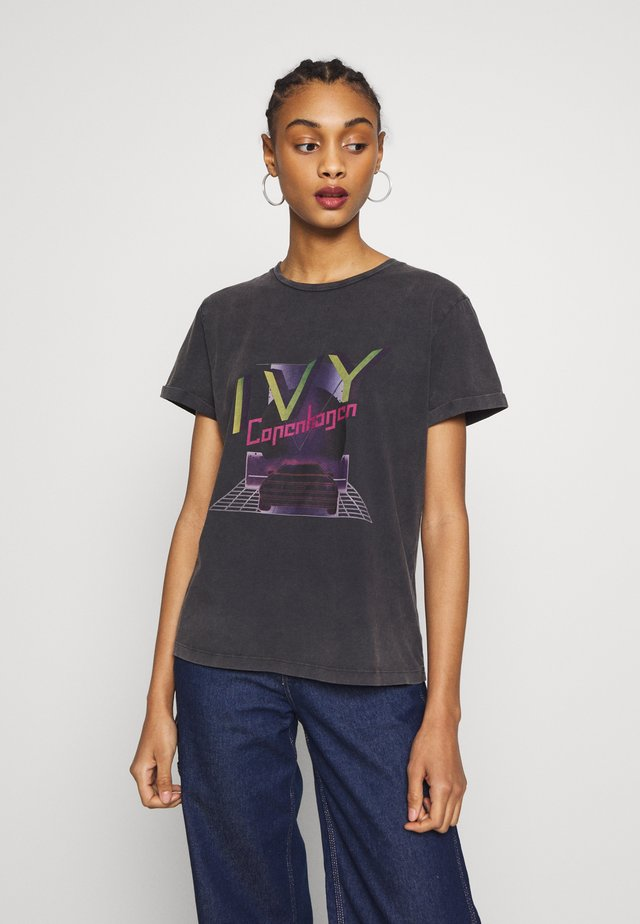 BANZI - T-shirt con stampa - black
