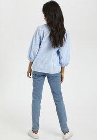 Kaffe - Button-down blouse - light blue check - 2