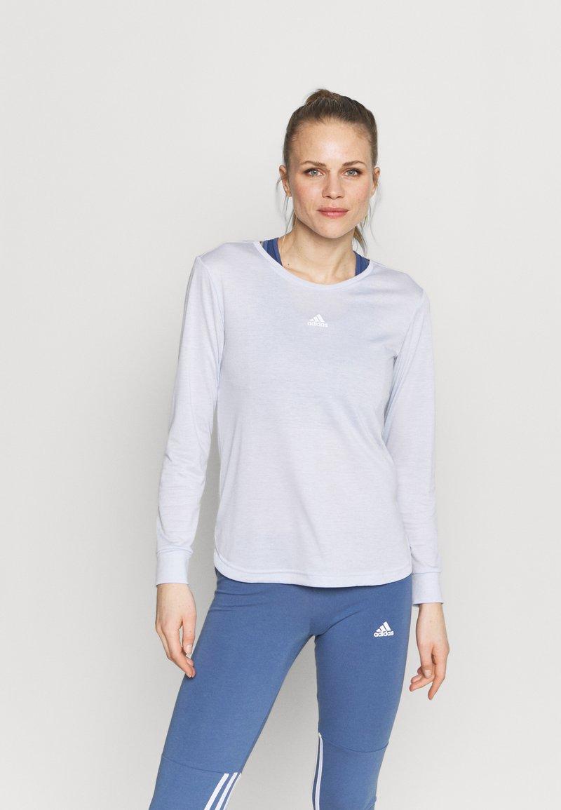 adidas Performance - UFORU - Long sleeved top - blue melange/black