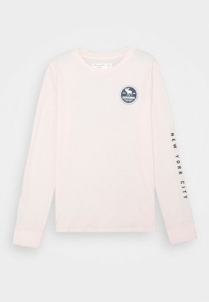 VINTAGE PRINT LOGO - Long sleeved top - pink