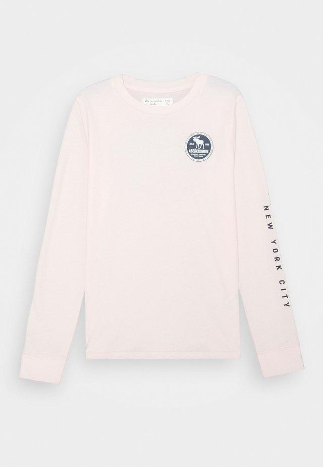 VINTAGE PRINT LOGO - Long sleeved top - pink