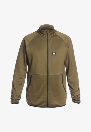 MIT REISSVERSCHLUS - Fleece jacket - military olive