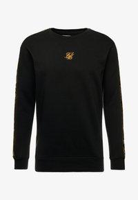 SIKSILK - SIKSILK  PANEL CREW  - Sweatshirt - black & gold - 3