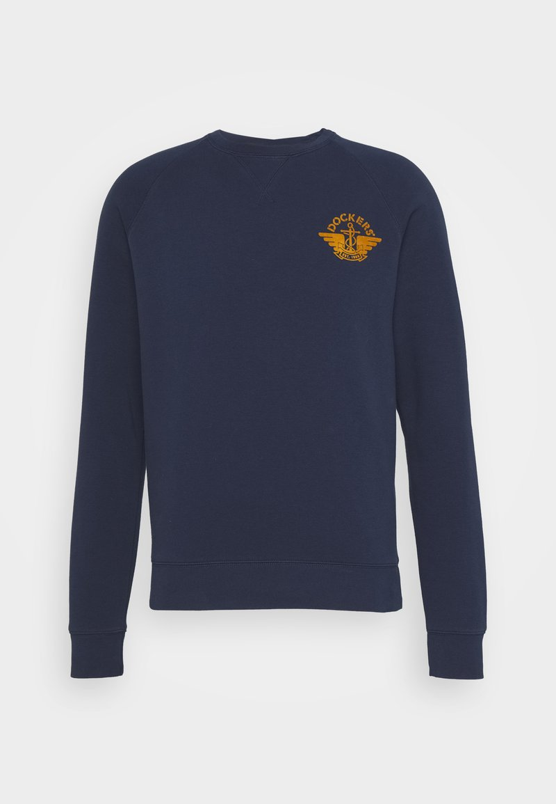 DOCKERS - LOGO CREWNECK - Sweatshirt - dark blue