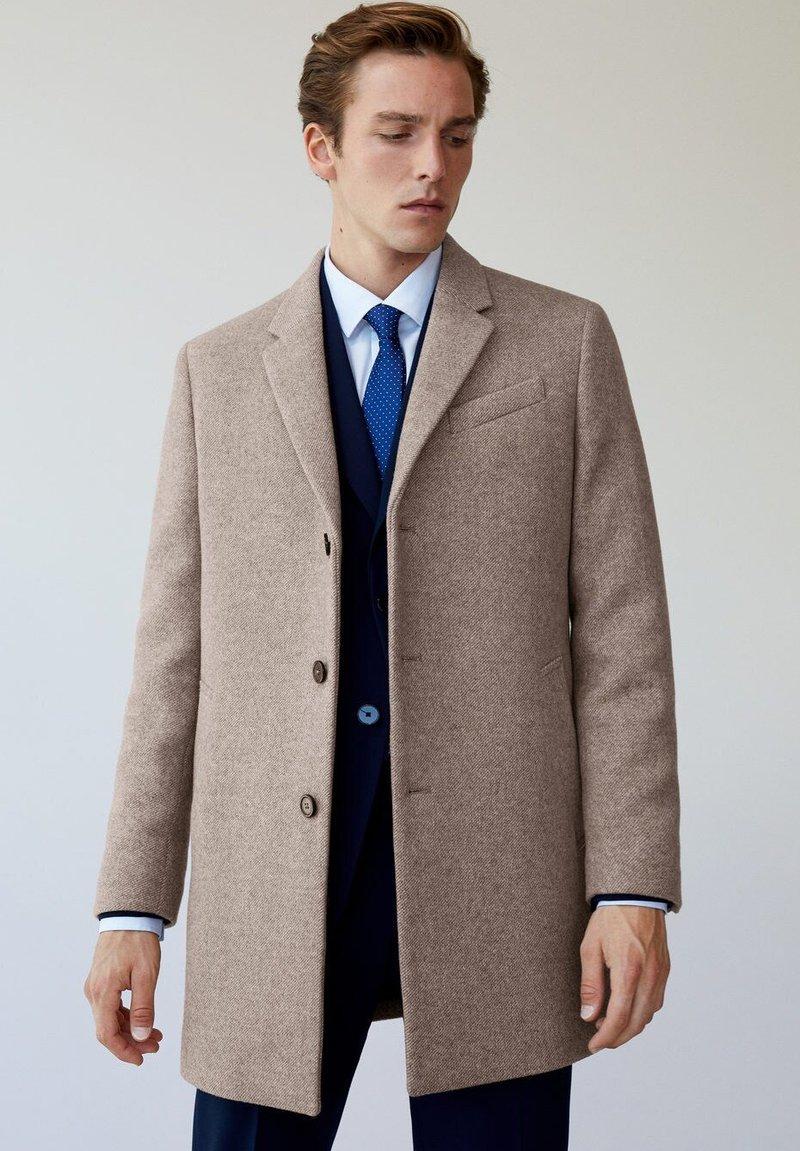 Mango - Short coat - middenbruin