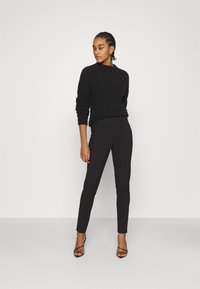 Nly by Nelly - DRESSED SLIM PANTS - Trousers - black - 1