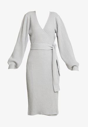 WRAP DRESS WITH FULL SLEEVE - Neulemekko - grey
