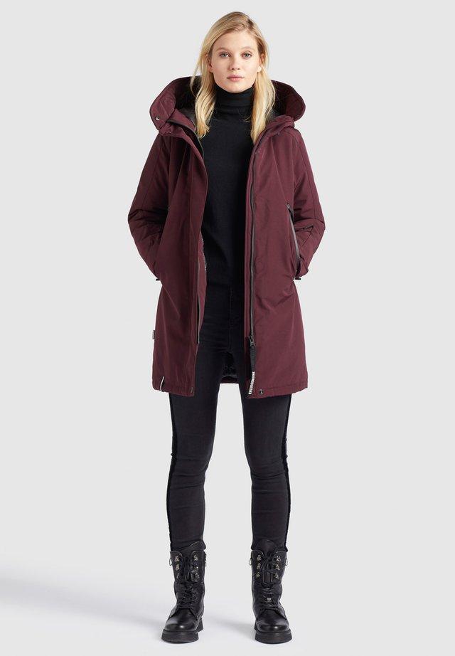 VIONA - Winter coat - weinrot