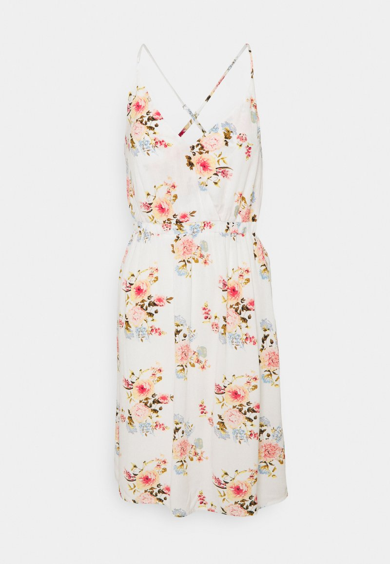 VILA PETITE - VIMESA SHORT DRESS - Day dress - snow white