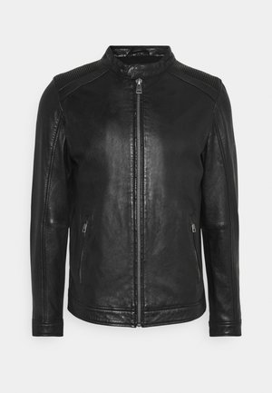 GOOD MOVE - Leather jacket - black
