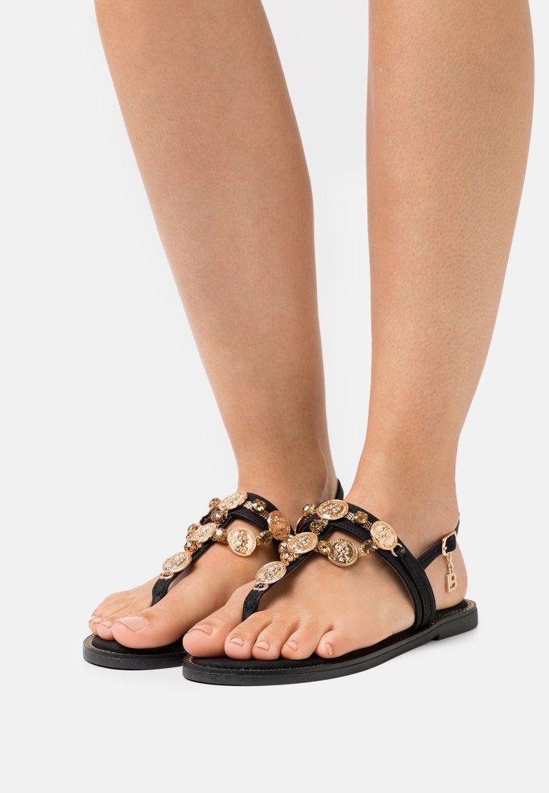 Laura Biagiotti - T-bar sandals - black