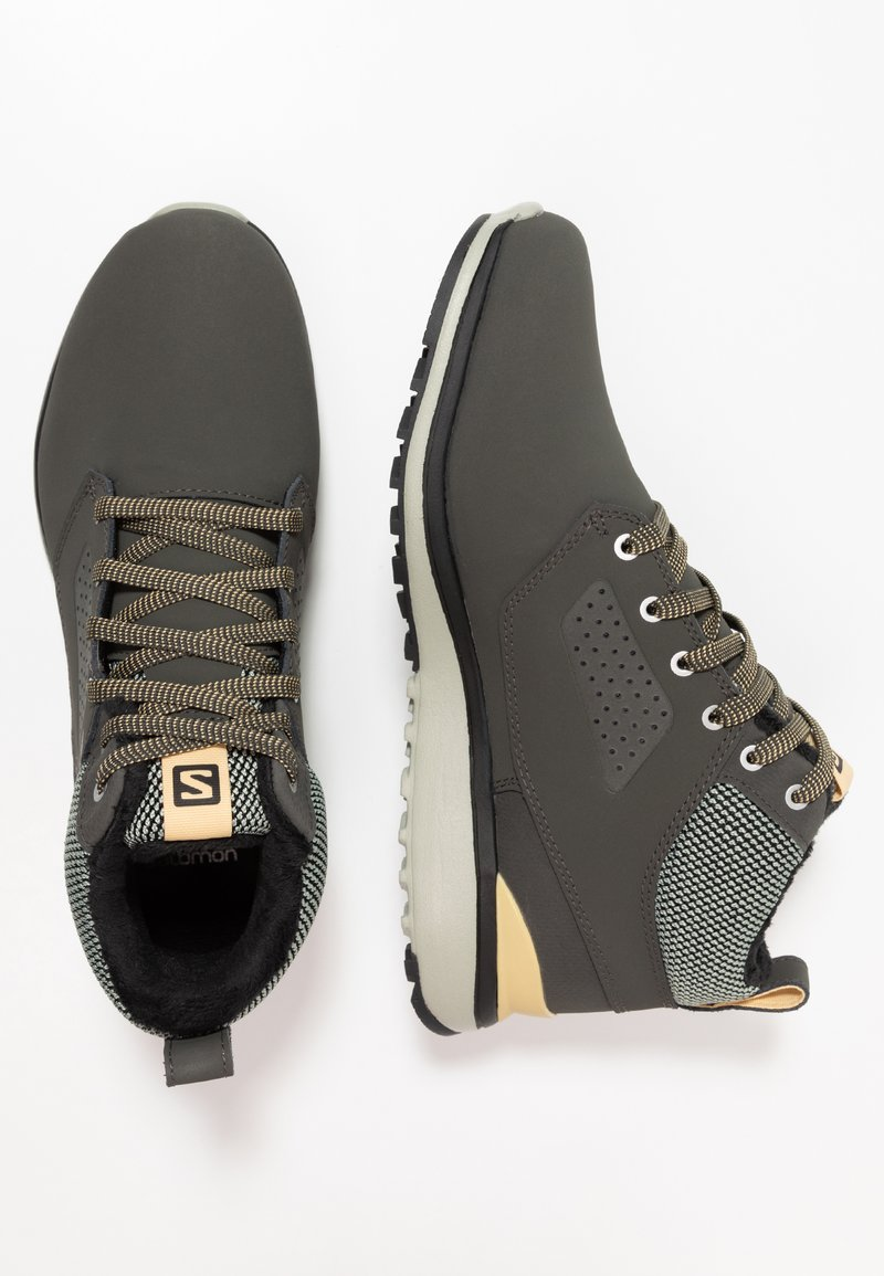 Salomon - UTILITY FREEZE CS WP - Winter boots - peat/mineral gray/taos taupe