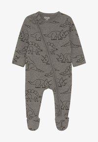 Cotton On - MINI ZIP THROUGH ROMPER BABY - Pyjamas - charcoal marle - 3