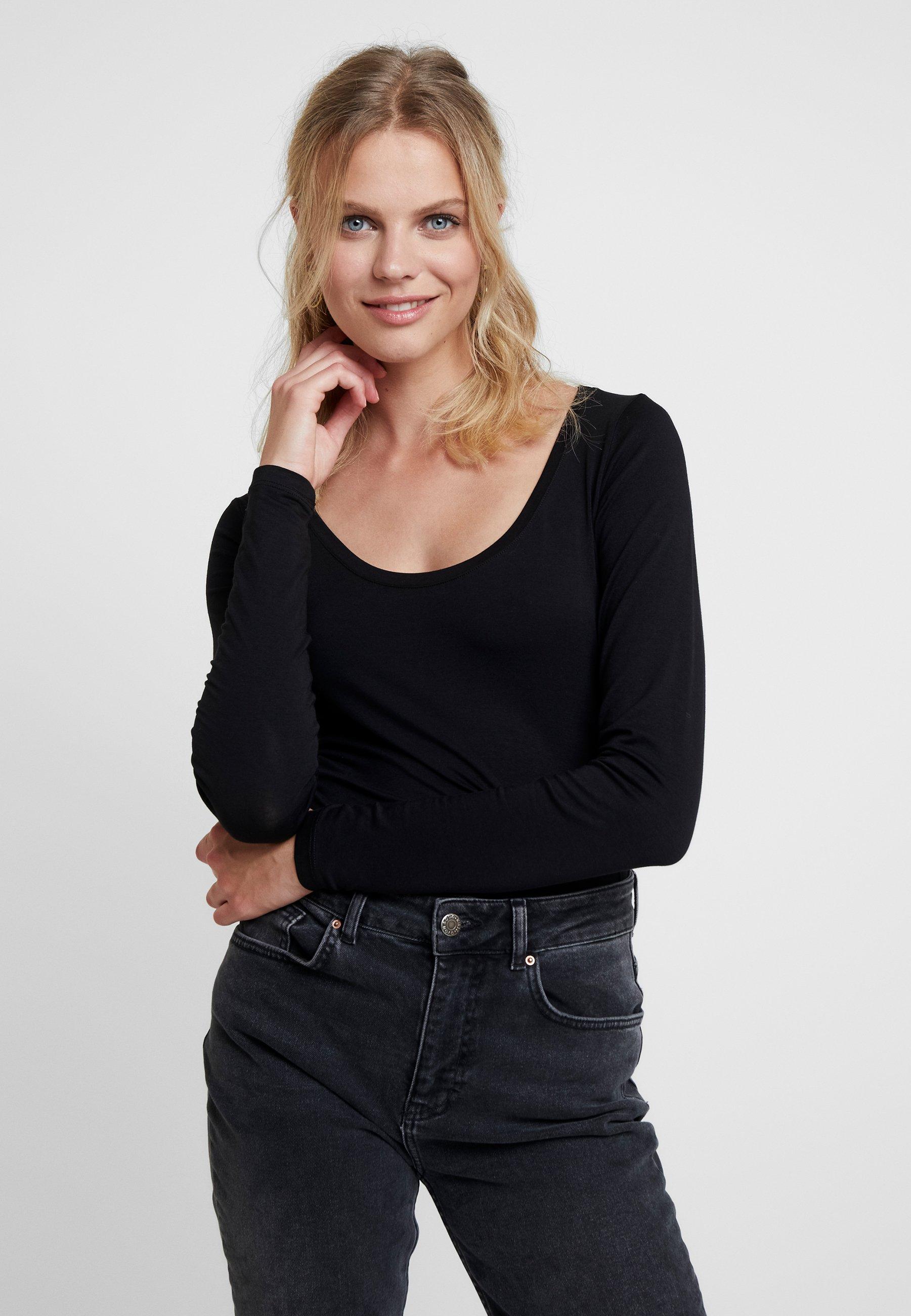Women SOLID - Long sleeved top