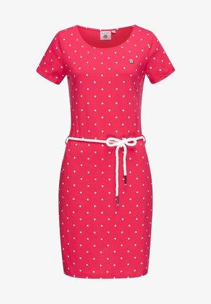 Shift dress - rasberry