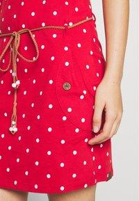 Ragwear - TAG DOTS - Jersey dress - red - 5