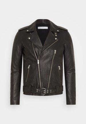ARONEW - Leather jacket - black