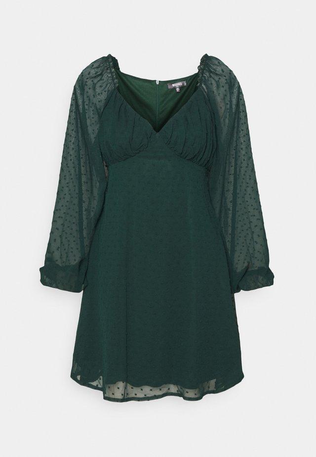 MILKMAID SKATER DRESS DOBBY - Day dress - dark green