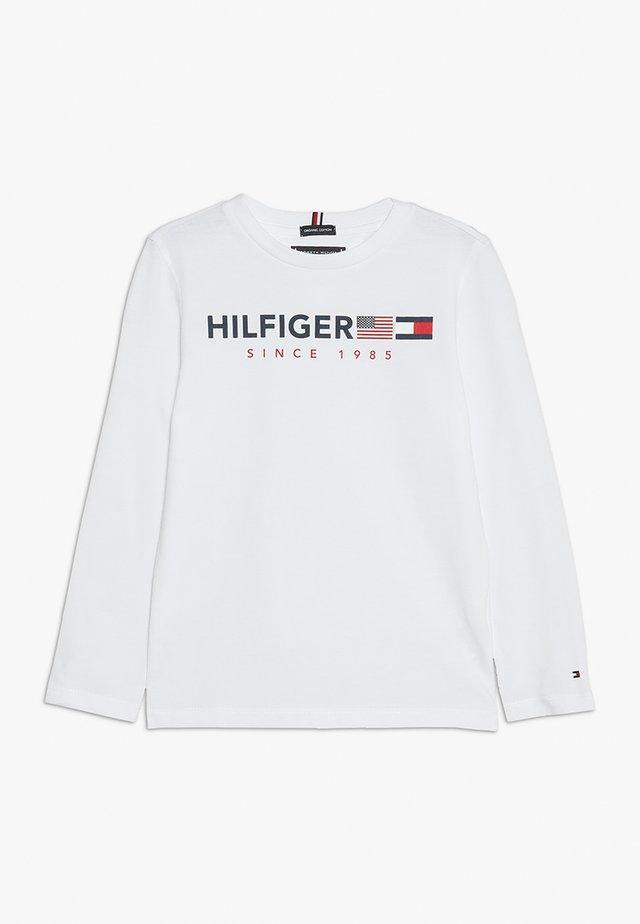 FLAGS GRAPHIC TEE  - Bluzka z długim rękawem - white