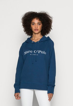 HOODED LOGO - Sweatshirt - lake blue