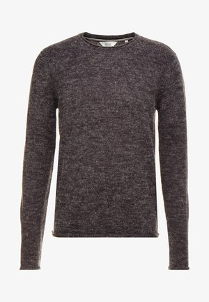 FRASER O-NECK - Trui - dark grey melange