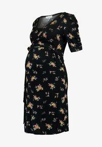 Envie de Fraise - HENRIETTE MATERNITY DRESS - Jerseyjurk - black/yellow - 5