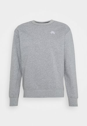 CREW - Mikina - dark grey heather/white