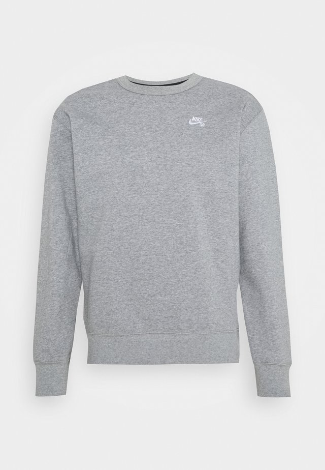 CREW - Sweatshirt - dark grey heather/white