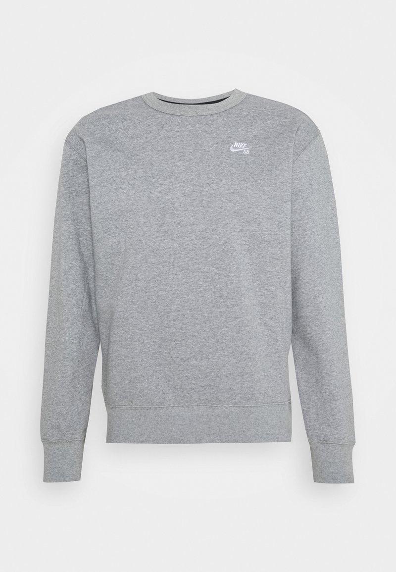 Nike SB - CREW - Bluza - dark grey heather/white