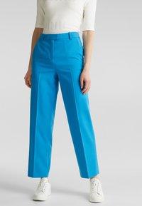 Esprit Collection - SHIMMER MIX + MATCH STRETCH-HOSE - Pantalon classique - dark turquoise - 0