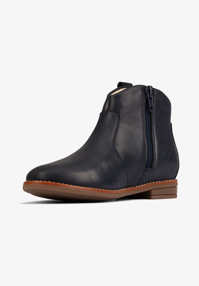 DREW NORTH  - Ankle boots - dunkelblaues leder