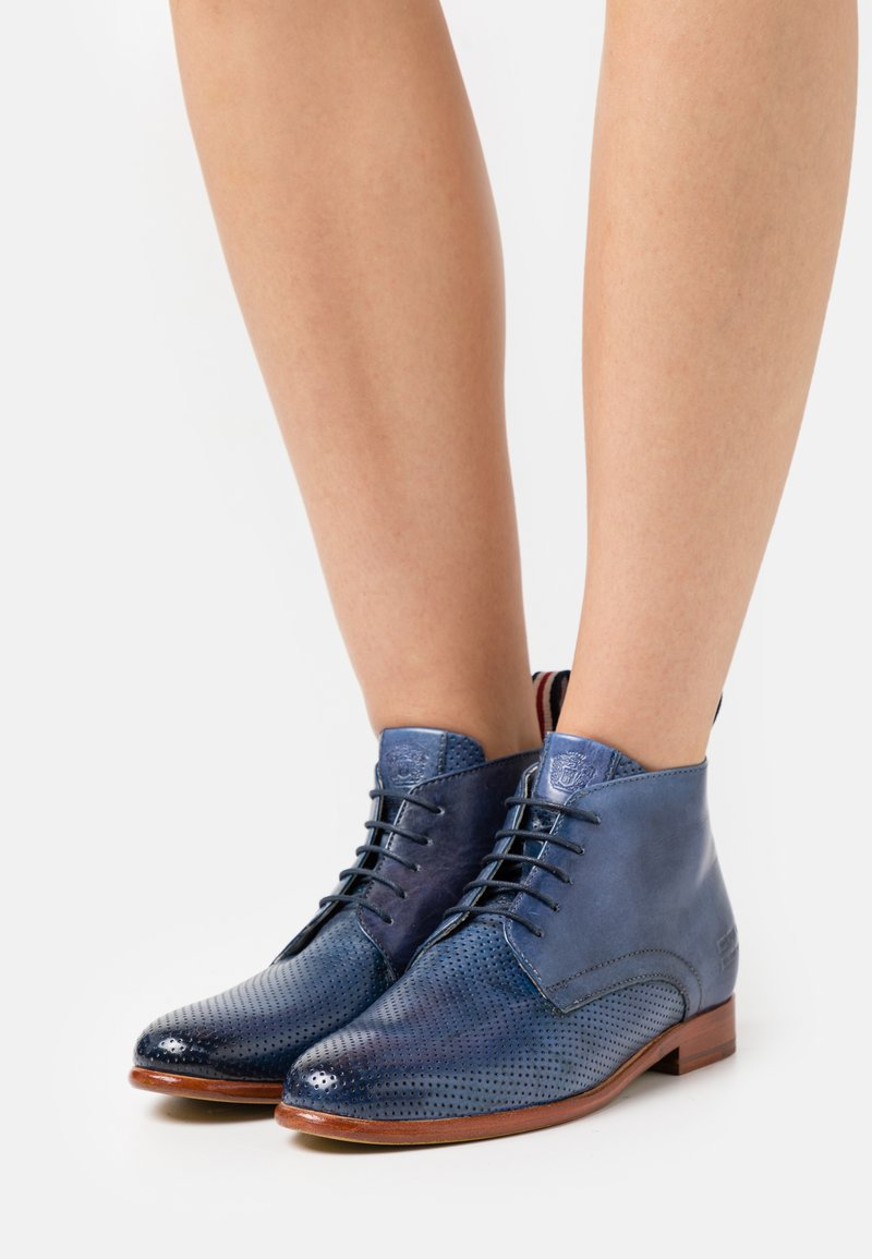 Melvin & Hamilton - SELINA 28 - Lace-up ankle boots - vegas/navy/nude/french/white/natural