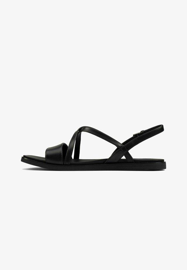 OFRA STRAP - Sandalen - black leather