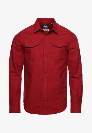 Shirt - red moleskin