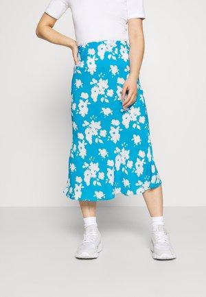 AZURE PRINT SKIRT - Áčková sukně - blue