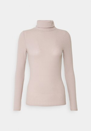 ROLL NECK - Long sleeved top - taupe