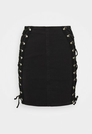 JONI SKIRT - Pencil skirt - washed black