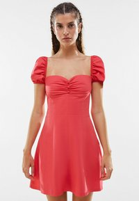 Bershka - Day dress - neon pink - 0