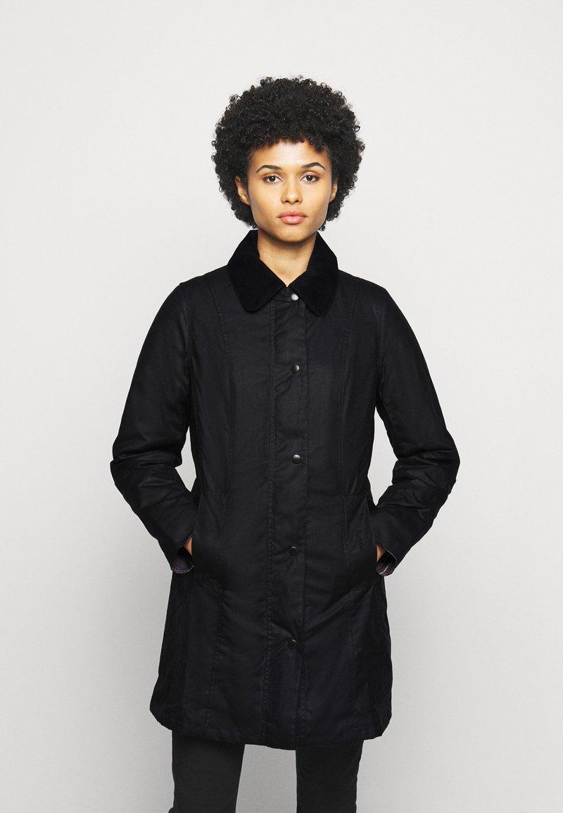 Barbour - BELSAY WAX JACKET - Light jacket - black