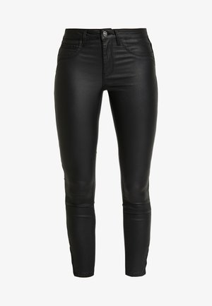 ONLKENDELL ANKLE COATED - Jeans Skinny Fit - black