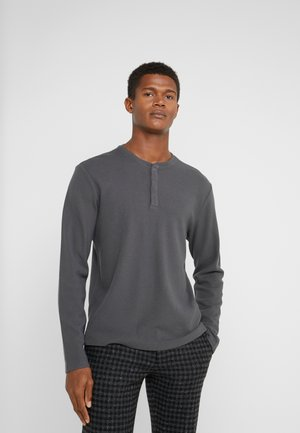 WAFFLE HENLEY - Long sleeved top - dark grey