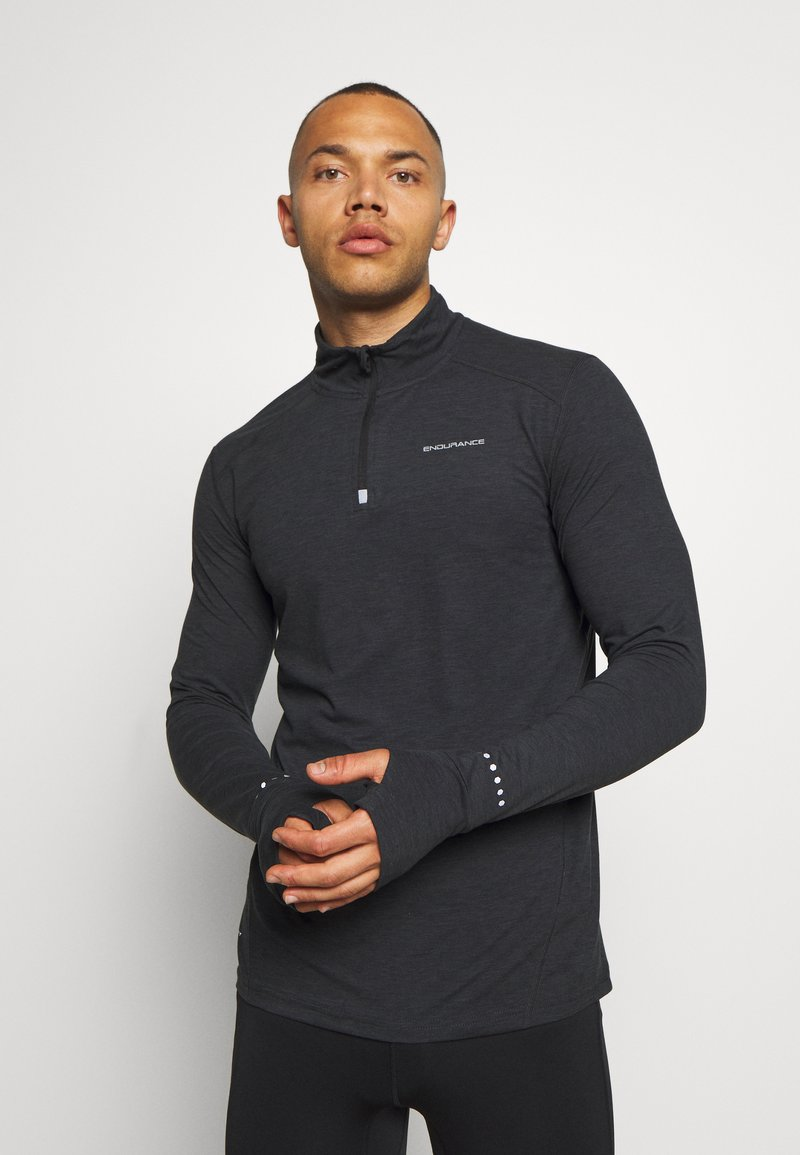 Endurance - ABBAS PRINTED MIDLAYER - Sports shirt - black