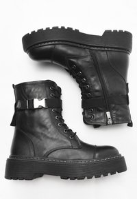 Inuovo - Lace-up ankle boots - black blk - 5