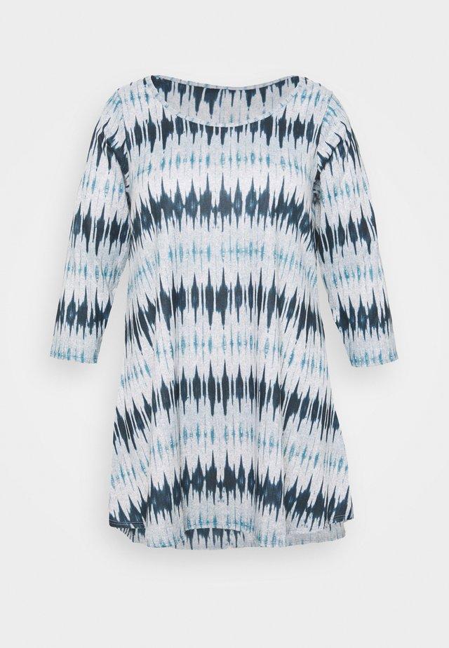 GEO PRINT PINTUCK - T-shirt à manches longues - multi