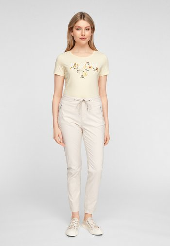 MIT ARTWORK - T-shirt con stampa - light yellow placed print