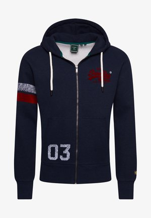 Zip-up hoodie - downhill navy marl