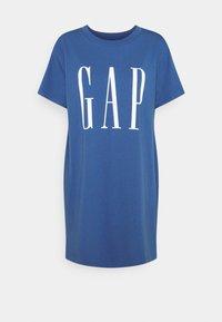 GAP Petite - DRESS - Jersey dress - chrome blue - 0