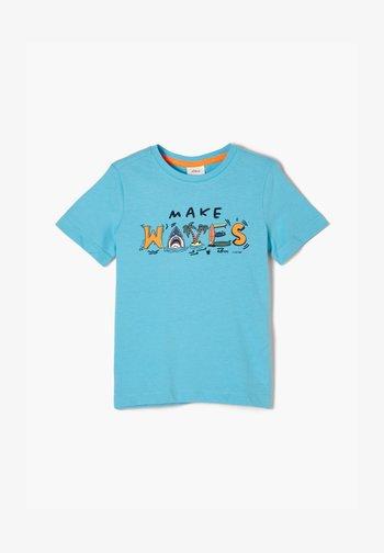 MIT FRONTPRINT - T-shirt con stampa - aqua